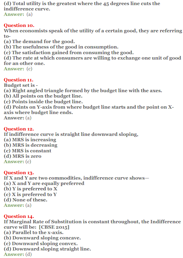 NCERT Solutions for Class 12 Micro Economics Chapter 2 Consumer Equilibrium 15