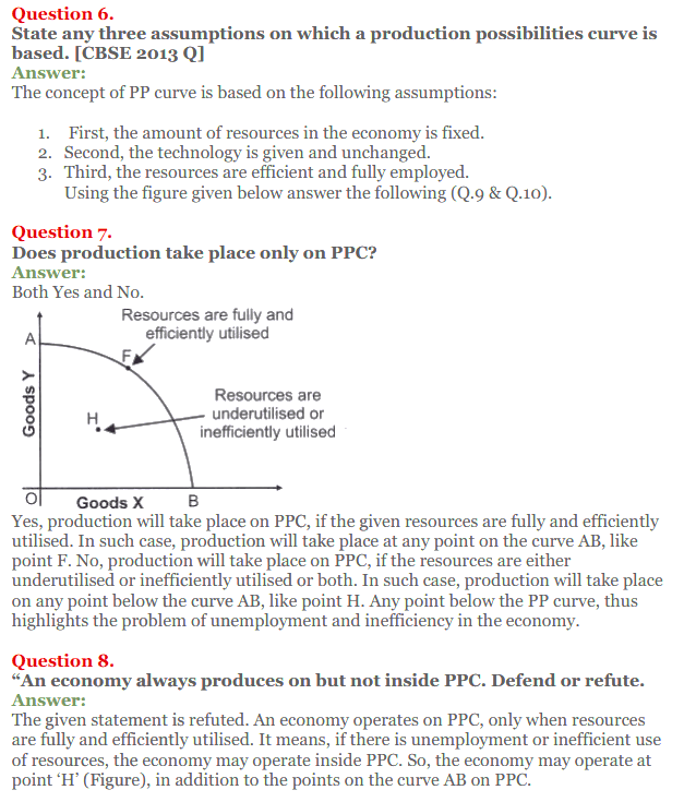 NCERT Solutions for Class 12 Micro Economics Chapter 1 Introduction to Economics 20