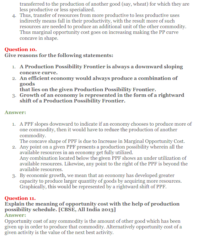 NCERT Solutions for Class 12 Micro Economics Chapter 1 Introduction to Economics 22