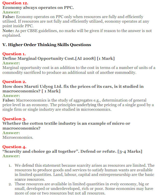 NCERT Solutions for Class 12 Micro Economics Chapter 1 Introduction to Economics 28