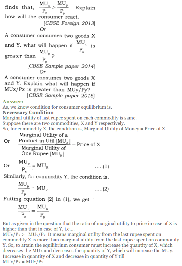 NCERT Solutions for Class 12 Micro Economics Chapter 2 Consumer Equilibrium 25