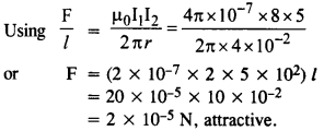 NCERT Solutions for Class 12 Physics Chapter 4 Moving Charges and Magnetism 7