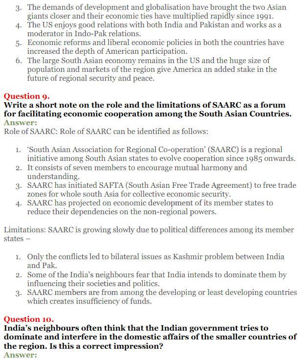 NCERT Solutions for Class 12 Political Science Chapter 5 Contemporary South Asia 5
