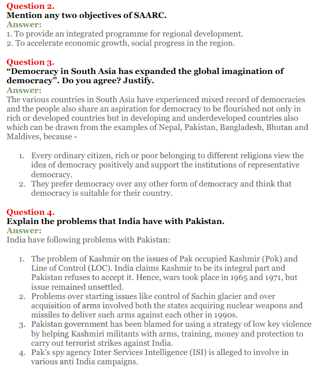 NCERT Solutions for Class 12 Political Science Chapter 5 Contemporary South Asia 10
