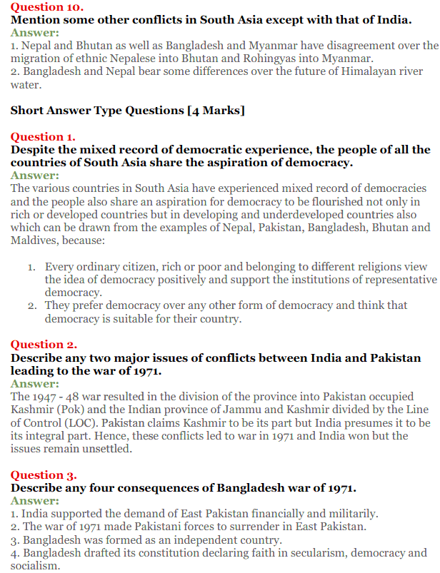 NCERT Solutions for Class 12 Political Science Chapter 5 Contemporary South Asia 14