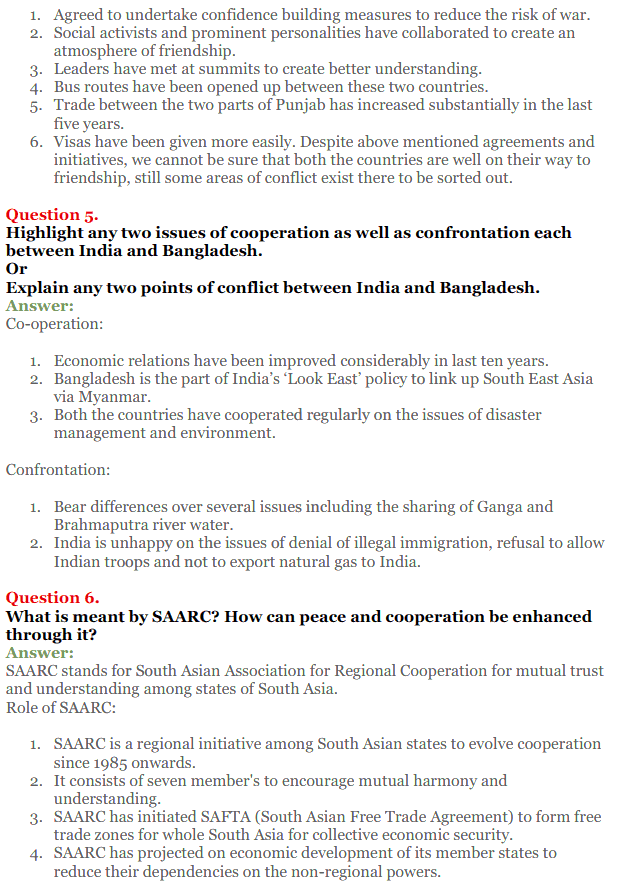 NCERT Solutions for Class 12 Political Science Chapter 5 Contemporary South Asia 16