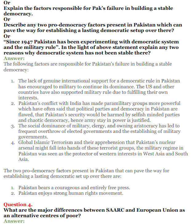 NCERT Solutions for Class 12 Political Science Chapter 5 Contemporary South Asia 23