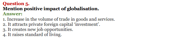 NCERT Solutions for Class 12 Political Science Chapter 9 Globalisation 8
