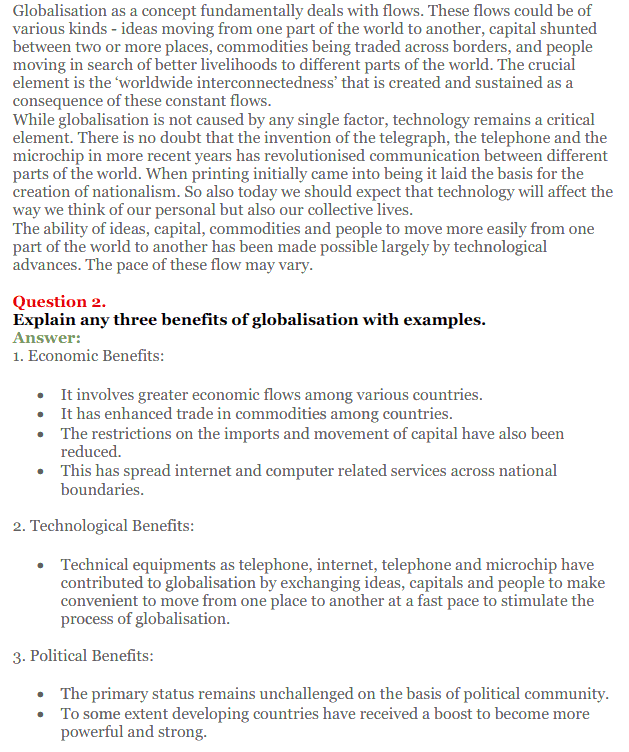 NCERT Solutions for Class 12 Political Science Chapter 9 Globalisation 19