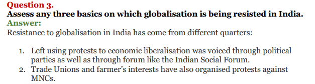 NCERT Solutions for Class 12 Political Science Chapter 9 Globalisation 20