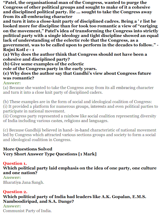 NCERT Solutions for Class 12 Political Science Chapter 2 Era of One Party Domina 7