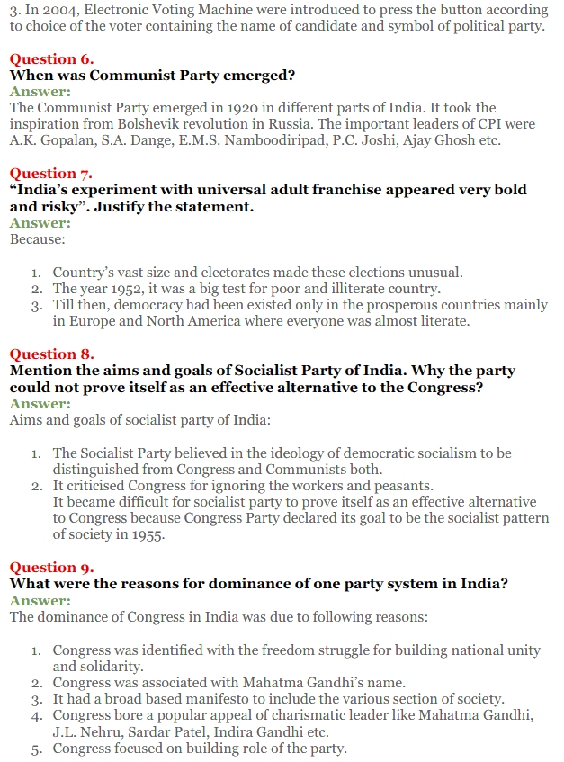 NCERT Solutions for Class 12 Political Science Chapter 2 Era of One Party Domina 13