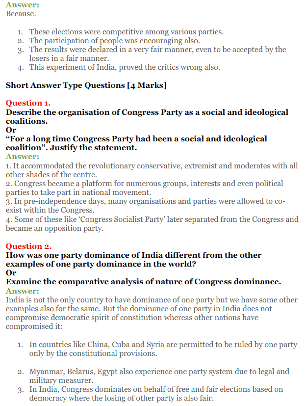 NCERT Solutions for Class 12 Political Science Chapter 2 Era of One Party Domina 15
