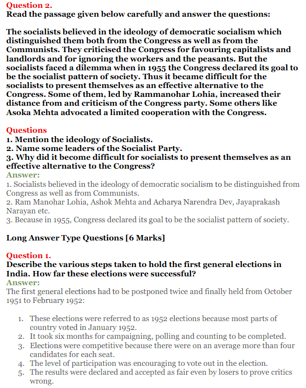 NCERT Solutions for Class 12 Political Science Chapter 2 Era of One Party Domina 19