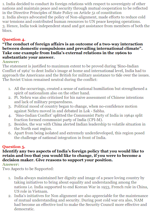 NCERT Solutions for Class 12 Political Science Chapter 4 India's External Relations 2