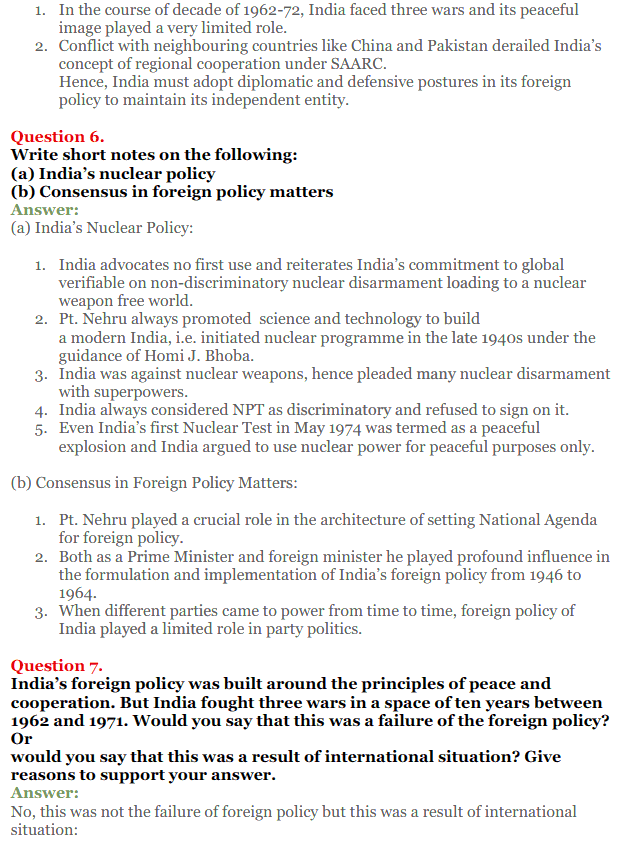 NCERT Solutions for Class 12 Political Science Chapter 4 India's External Relations 4