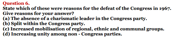 NCERT Solutions for Class 12 Political Science Chapter 5 Challenges to and Restoration of Congress System 3