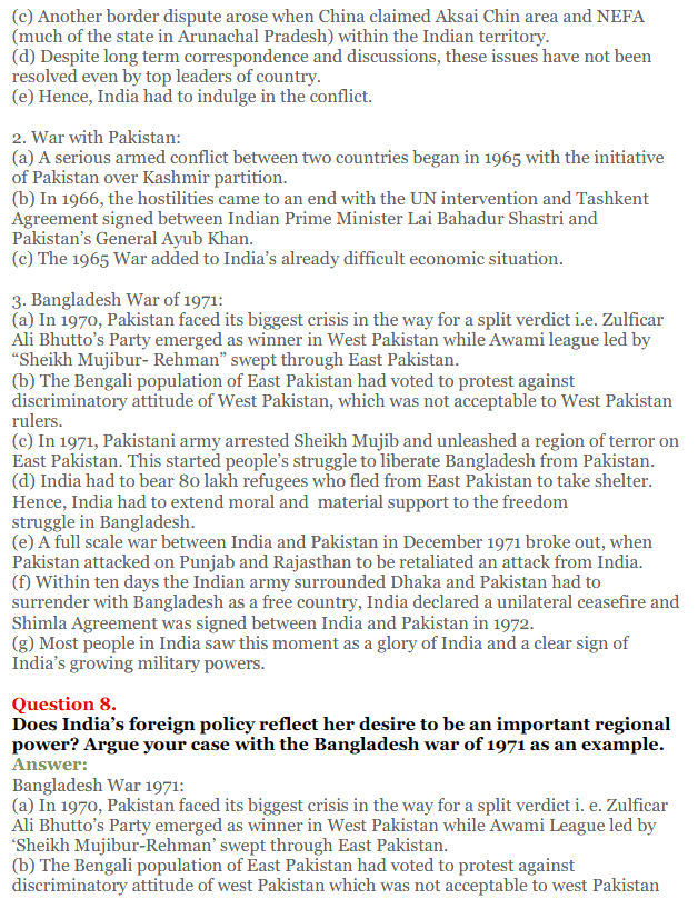 NCERT Solutions for Class 12 Political Science Chapter 4 India's External Relations 6