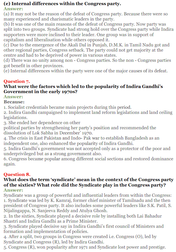 NCERT Solutions for Class 12 Political Science Chapter 5 Challenges to and Restoration of Congress System 4