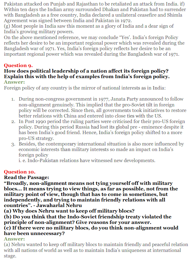NCERT Solutions for Class 12 Political Science Chapter 4 India's External Relations 8