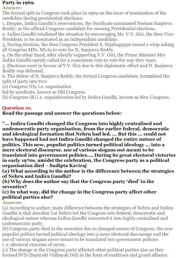NCERT Solutions for Class 12 Political Science Chapter 5 Challenges to and Restoration of Congress System 6