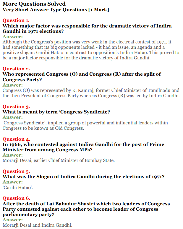 NCERT Solutions for Class 12 Political Science Chapter 5 Challenges to and Restoration of Congress System 7