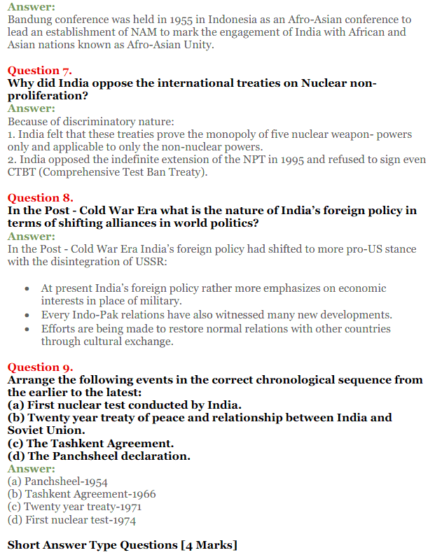 NCERT Solutions for Class 12 Political Science Chapter 4 India's External Relations 14