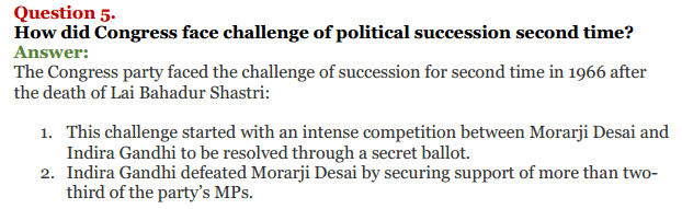 NCERT Solutions for Class 12 Political Science Chapter 5 Challenges to and Restoration of Congress System 12