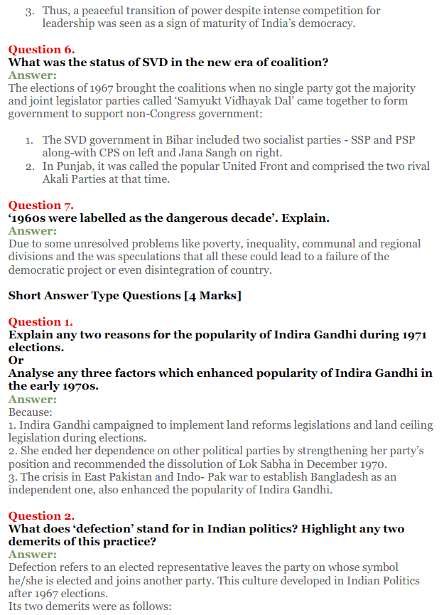 NCERT Solutions for Class 12 Political Science Chapter 5 Challenges to and Restoration of Congress System 13