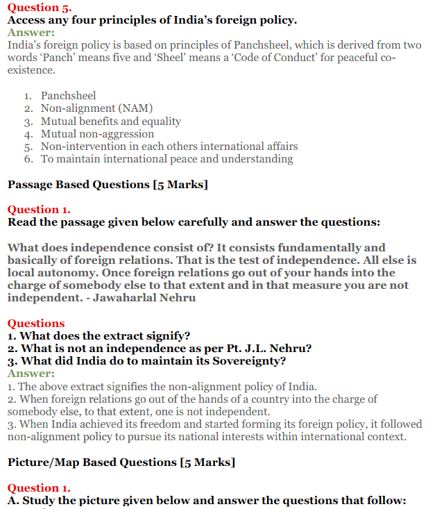 NCERT Solutions for Class 12 Political Science Chapter 4 India's External Relations 18