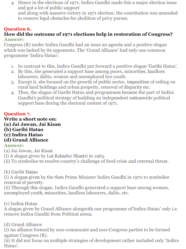 NCERT Solutions for Class 12 Political Science Chapter 5 Challenges to and Restoration of Congress System 17