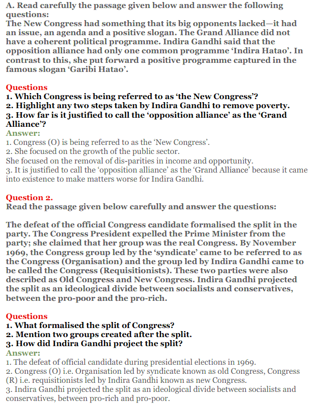 NCERT Solutions for Class 12 Political Science Chapter 5 Challenges to and Restoration of Congress System 19