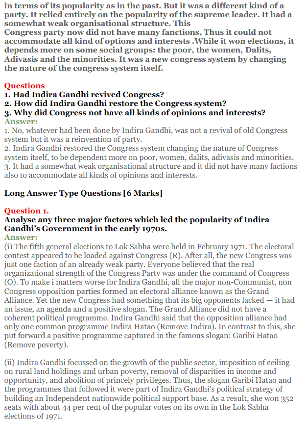 NCERT Solutions for Class 12 Political Science Chapter 5 Challenges to and Restoration of Congress System 21