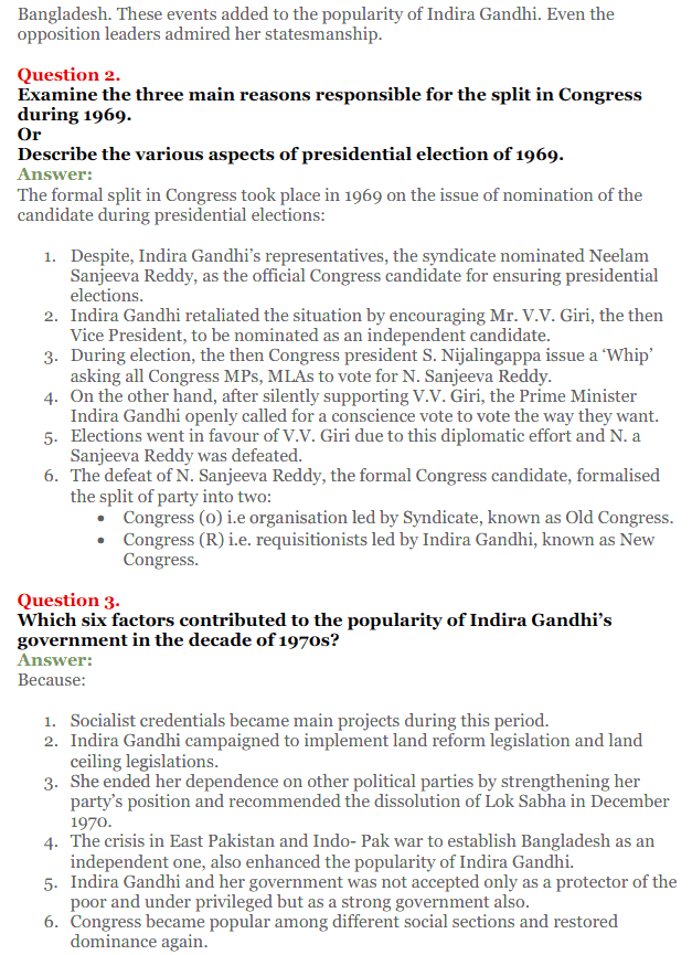 NCERT Solutions for Class 12 Political Science Chapter 5 Challenges to and Restoration of Congress System 23