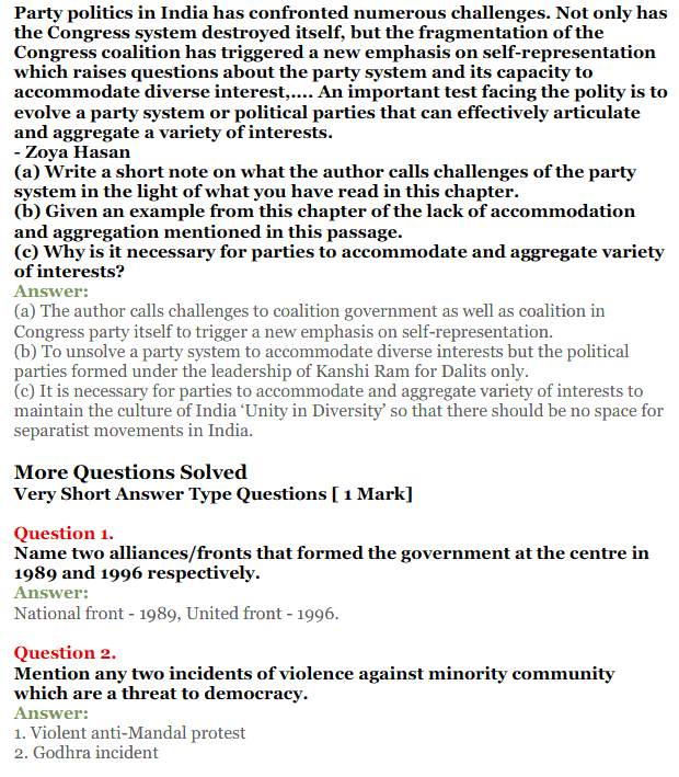 NCERT Solutions for Class 12 Political Science Chapter 9 Recent Developments in Indian Politics 5