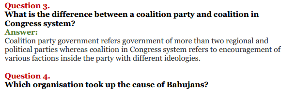 NCERT Solutions for Class 12 Political Science Chapter 9 Recent Developments in Indian Politics 6