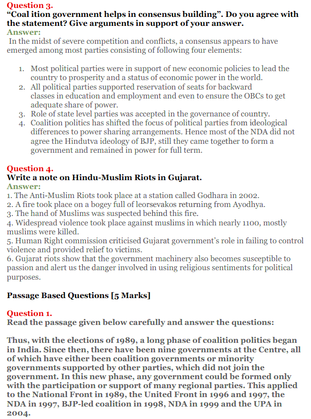 NCERT Solutions for Class 12 Political Science Chapter 9 Recent Developments in Indian Politics 13