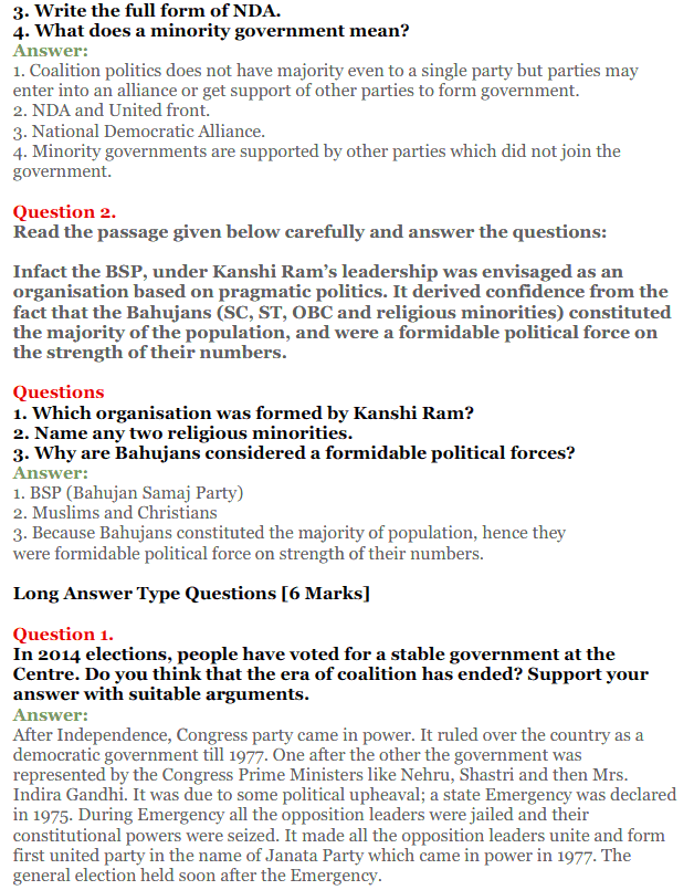 NCERT Solutions for Class 12 Political Science Chapter 9 Recent Developments in Indian Politics 15