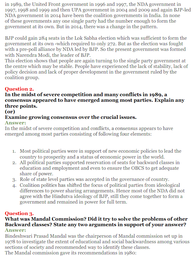 NCERT Solutions for Class 12 Political Science Chapter 9 Recent Developments in Indian Politics 17