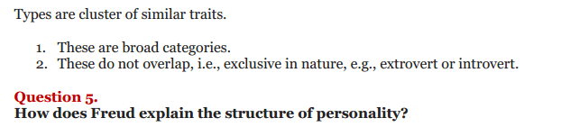 NCERT Solutions for Class 12 Psychology Chapter 2 Self And Personality 3