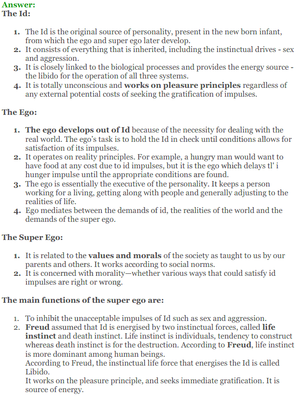 NCERT Solutions for Class 12 Psychology Chapter 2 Self And Personality 4