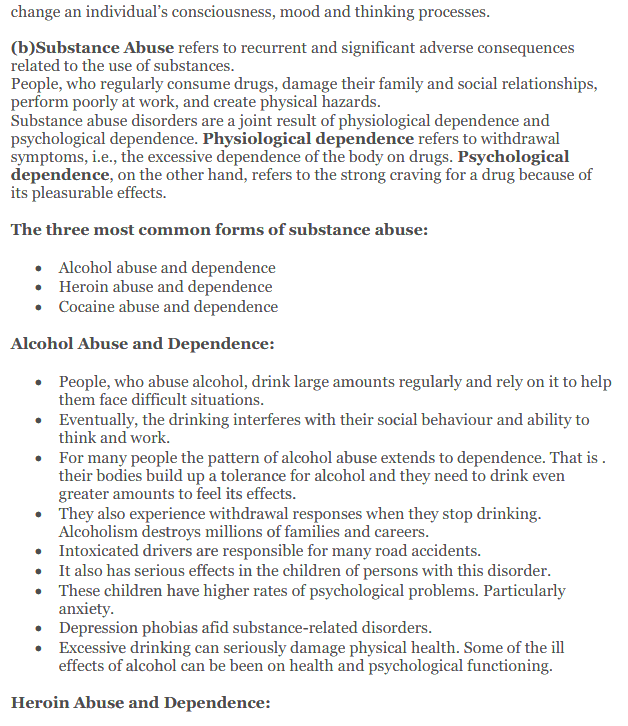 NCERT Solutions for Class 12 Psychology Chapter 4 Psychological Disorders 8