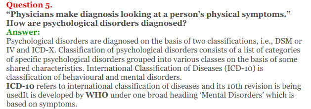 NCERT Solutions for Class 12 Psychology Chapter 4 Psychological Disorders 11