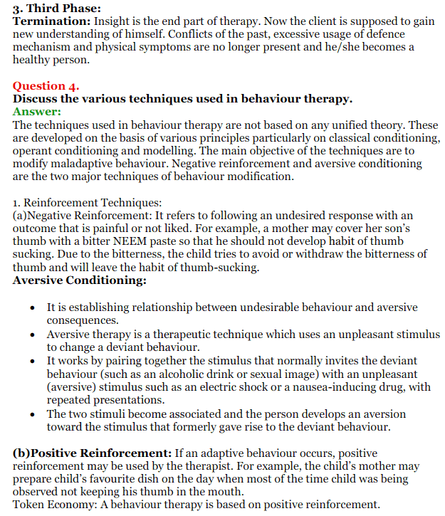 NCERT Solutions for Class 12 Psychology Chapter 5 Therapeutic Approaches And Counselling 8
