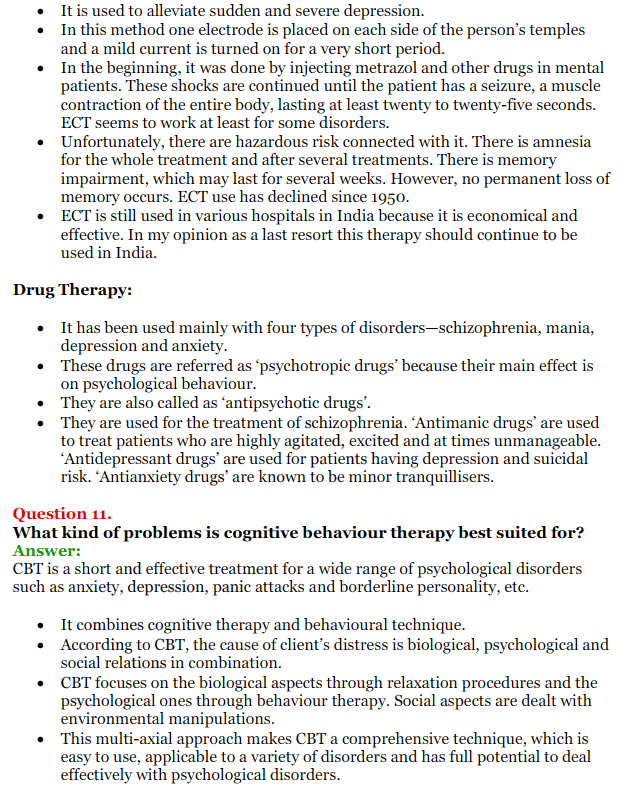 NCERT Solutions for Class 12 Psychology Chapter 5 Therapeutic Approaches And Counselling 20