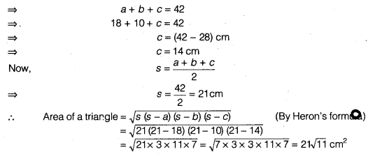 NCERT Solutions for Class 9 Maths Chapter 7 Heron's Formula Ex 7.1 img 6