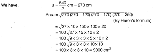 NCERT Solutions for Class 9 Maths Chapter 7 Heron's Formula Ex 7.1 img 7