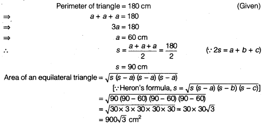 NCERT Solutions for Class 9 Maths Chapter 7 Heron's Formula Ex 7.1 img 1