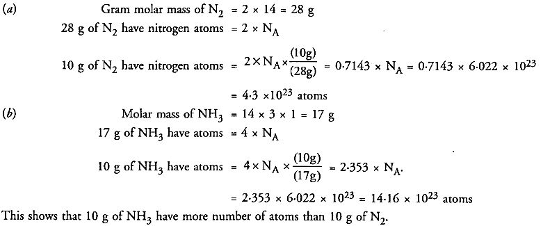 NCERT Solutions For Class 9 Science Chapter 3 Atoms and Molecules 26