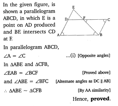 Triangles Class 10 Exercise 6.3